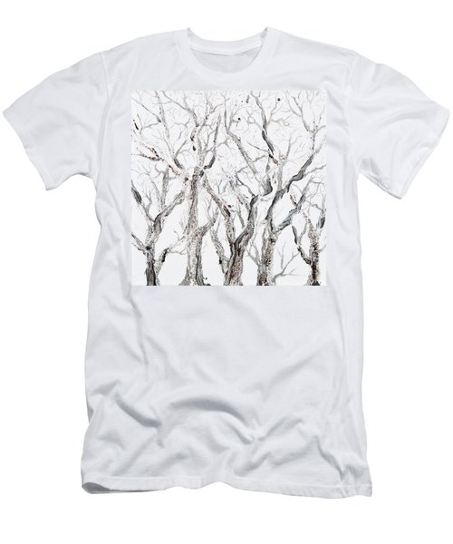 Bare Branches Men's T-Shirt (Slim Fit) by Regina Valluzzi