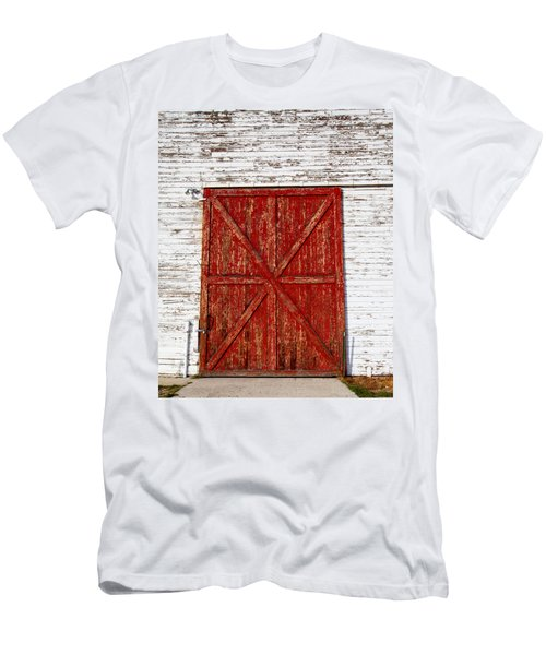 Barn Door Men's T-Shirt (Slim Fit) by Fran Riley