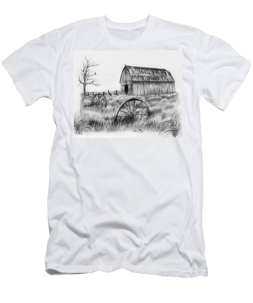 Barn With Crows Men's T-Shirt (Slim Fit) by Lena Auxier