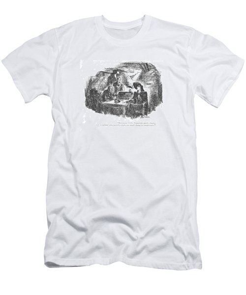 Barometer 1016. Tomorrow Partly Cloudy Men's T-Shirt (Athletic Fit)