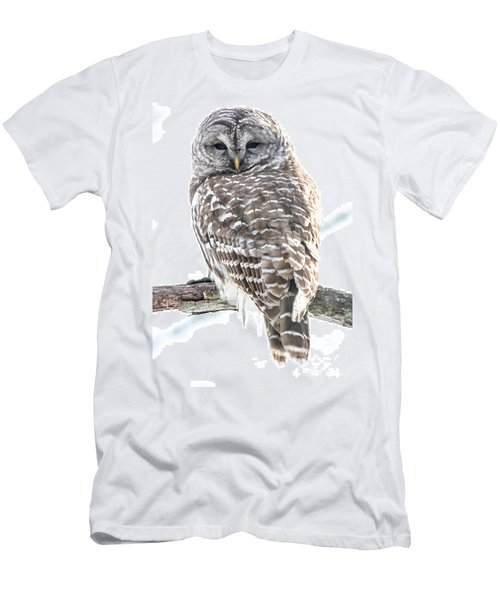 Barred Owl2 Men's T-Shirt (Slim Fit) by Cheryl Baxter