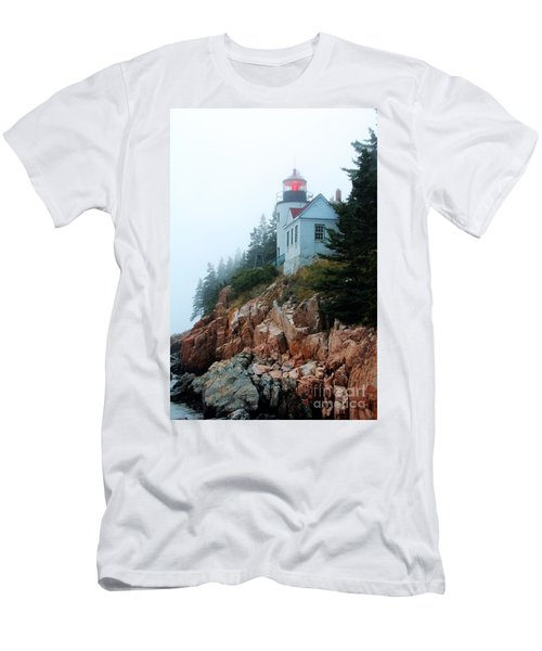 Bass Harbor Head Lighthouse Men's T-Shirt (Athletic Fit)