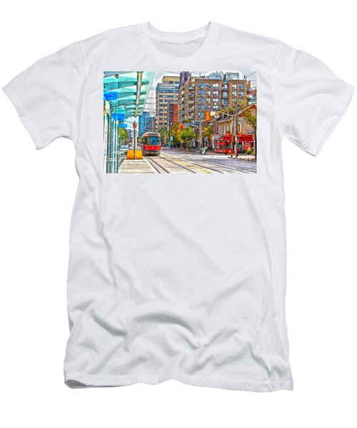 Bathurst Street Car Coming North To Queen Street Men's T-Shirt (Athletic Fit)