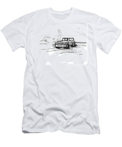 Beach Buggy Ocracoke 1970s Men's T-Shirt (Athletic Fit)