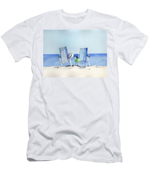 Beach Chairs Men's T-Shirt (Athletic Fit)