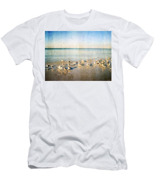 Beach Combers - Seagull Art By Sharon Cummings Men's T-Shirt (Athletic Fit)