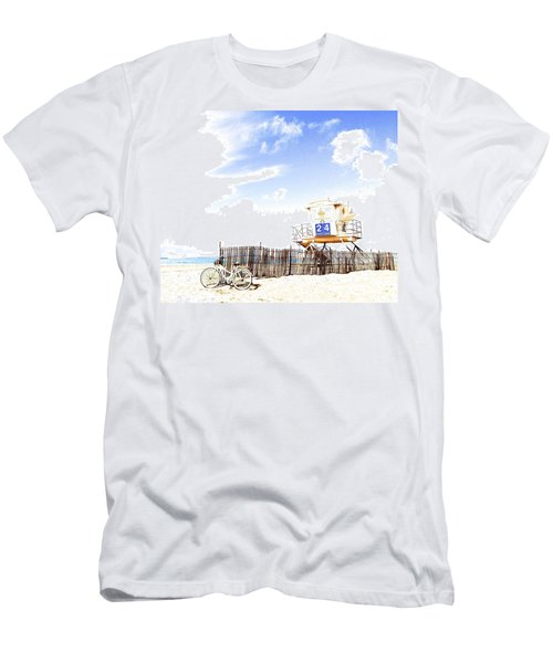 Men's T-Shirt (Slim Fit) featuring the photograph Beach Cruiser by Margie Amberge