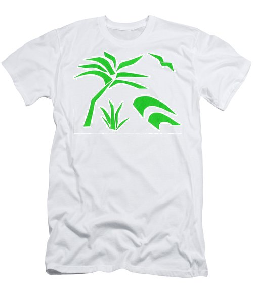 Men's T-Shirt (Slim Fit) featuring the mixed media Beach by Delin Colon