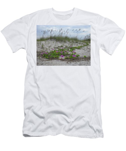 Beach Flowers Men's T-Shirt (Slim Fit) by Ellen Meakin