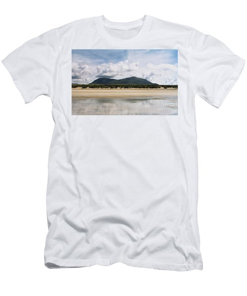 Beach Sky And Mountains Men's T-Shirt (Slim Fit) by Rebecca Harman