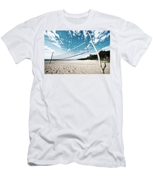 Beach Volleyball Net Men's T-Shirt (Athletic Fit)