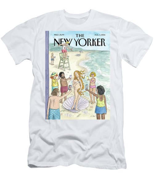 Venus On The Beach Men's T-Shirt (Athletic Fit)