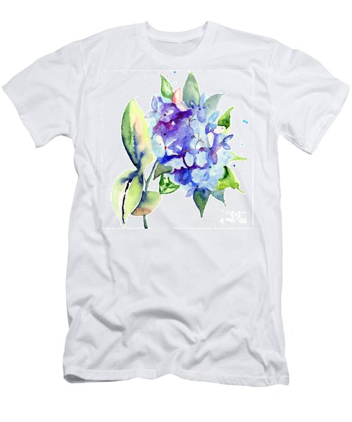 Beautiful Blue Flowers Men's T-Shirt (Athletic Fit)