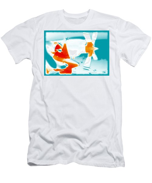 Men's T-Shirt (Slim Fit) featuring the photograph Fixed Wing Aircraft Pop Art Poster by R Muirhead Art