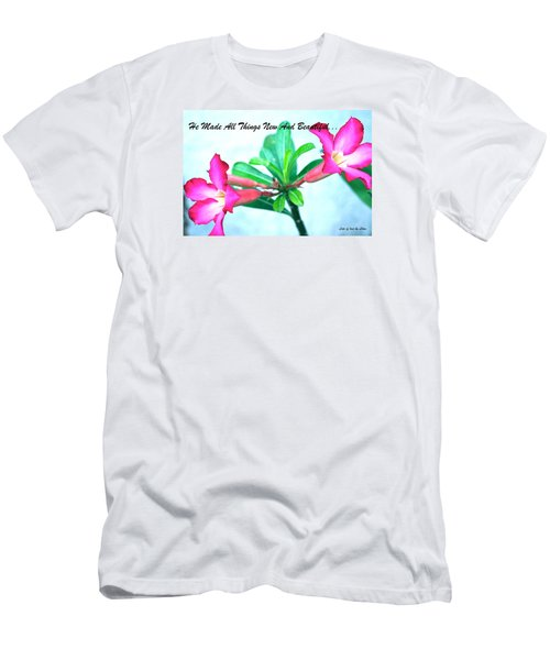 Men's T-Shirt (Slim Fit) featuring the photograph Beautiful Flower by Lorna Maza