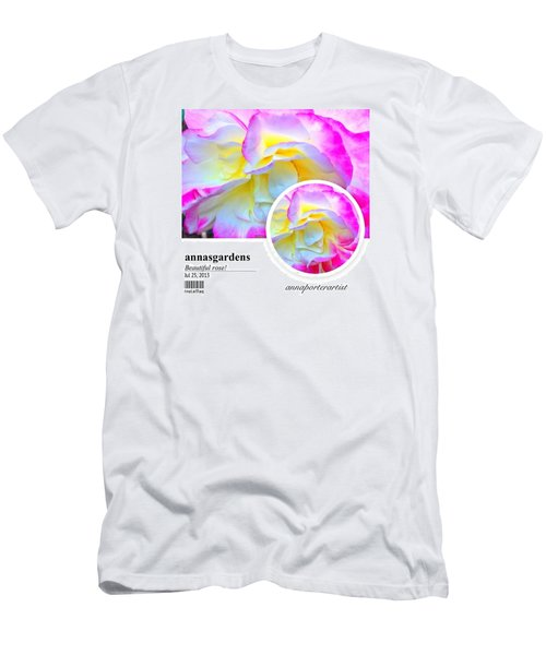 Beautiful Pink And Yellow Rose Men's T-Shirt (Athletic Fit)