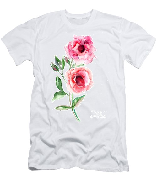 Beautiful Roses Flowers Men's T-Shirt (Athletic Fit)