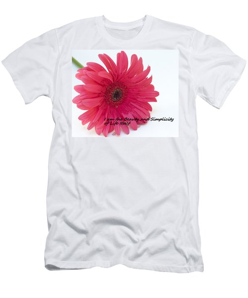 Beauty And Simplicity Men's T-Shirt (Slim Fit)
