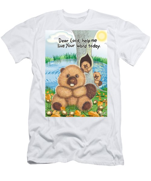 Beaver Men's T-Shirt (Slim Fit) by Jerry Ruffin