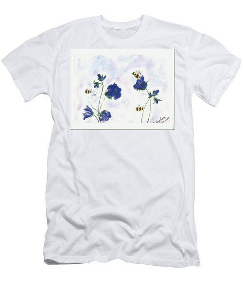 Bees At Lunch Time Men's T-Shirt (Slim Fit) by Francine Heykoop