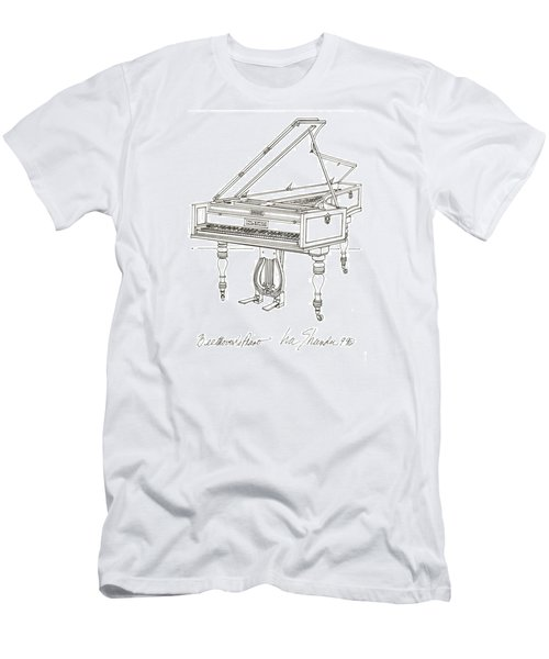 Beethoven's Broadwood Grand  Piano Men's T-Shirt (Slim Fit) by Ira Shander