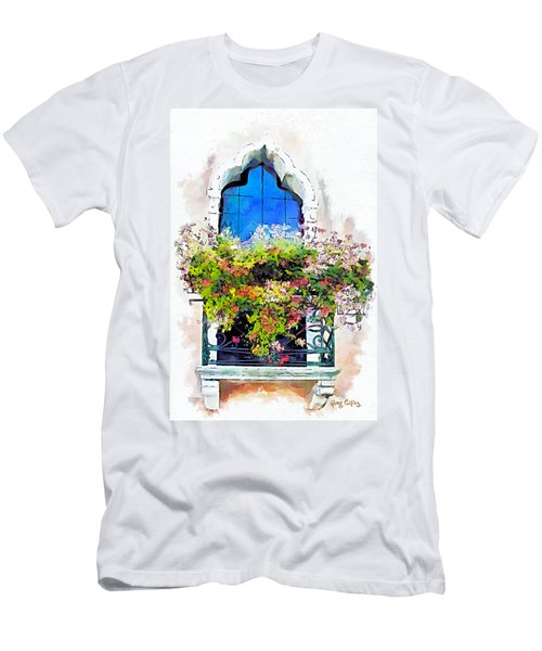 Men's T-Shirt (Slim Fit) featuring the painting Bei Fiori by Greg Collins