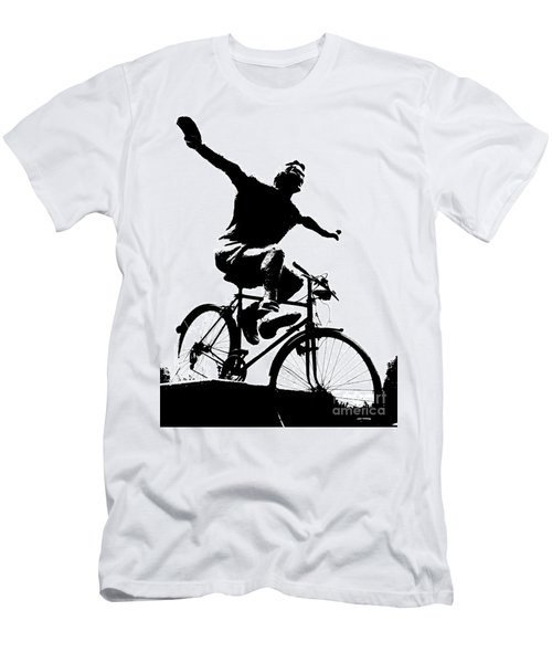 Bicycle - Black And White Pixels Men's T-Shirt (Athletic Fit)