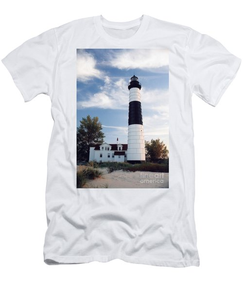 Big Sable Lighthouse Men's T-Shirt (Athletic Fit)