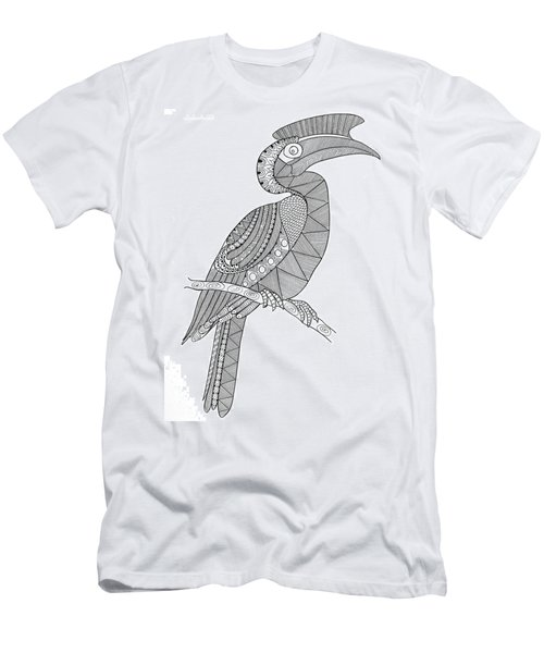 Bird Hornbill Men's T-Shirt (Athletic Fit)