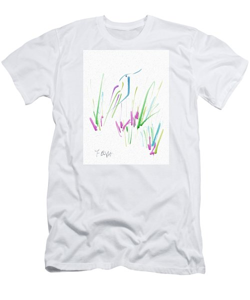 Men's T-Shirt (Slim Fit) featuring the digital art Bird In The Grass by Frank Bright