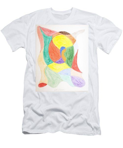 Men's T-Shirt (Slim Fit) featuring the painting Duck by Stormm Bradshaw