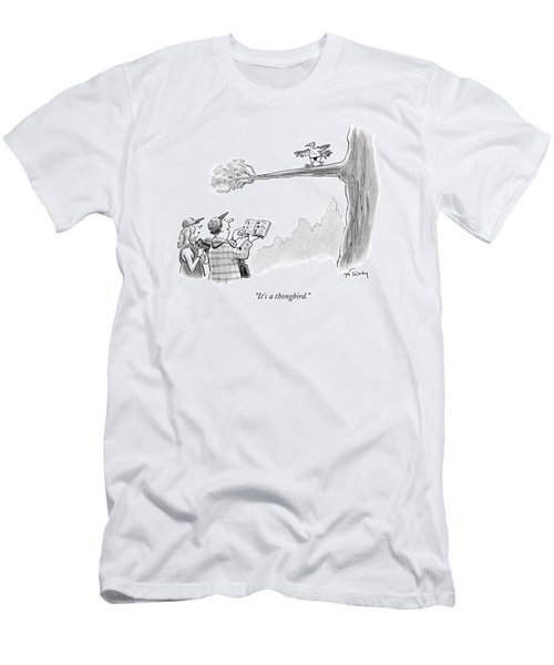 Bird Watchers Spot A Bird Wearing A Thong Men's T-Shirt (Athletic Fit)