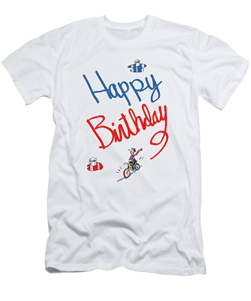 Birthday Bicycle Painter Men's T-Shirt (Athletic Fit)