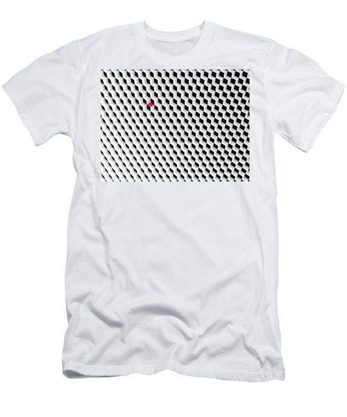 Black And White Cubes With One Red Cube. Men's T-Shirt (Athletic Fit)