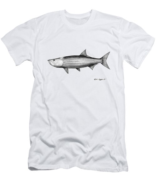 Black And White Tarpon Men's T-Shirt (Athletic Fit)
