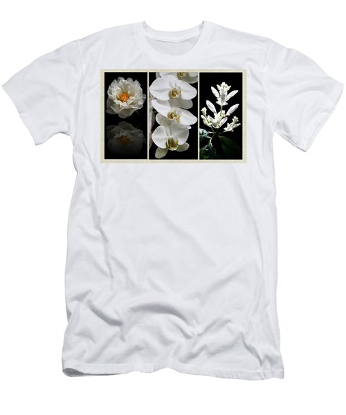 Black And White Triptych Men's T-Shirt (Slim Fit) by Judy Vincent