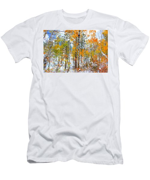 Men's T-Shirt (Slim Fit) featuring the photograph Black Hills Veil  by Clarice  Lakota