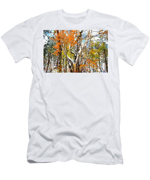 Men's T-Shirt (Slim Fit) featuring the photograph Black Hills Entanglement by Clarice  Lakota