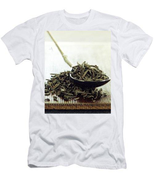Black Tea Leaves Men's T-Shirt (Athletic Fit)