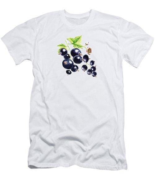 Men's T-Shirt (Slim Fit) featuring the painting Blackcurrant Berries  by Irina Sztukowski