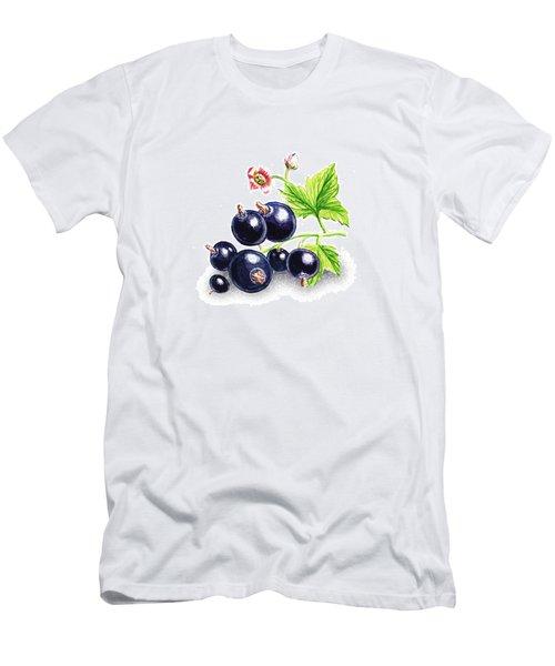 Men's T-Shirt (Slim Fit) featuring the painting Blackcurrant Still Life by Irina Sztukowski