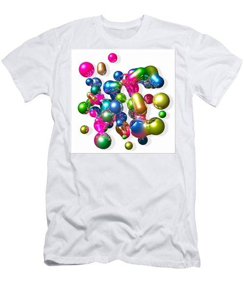 Men's T-Shirt (Slim Fit) featuring the digital art Blobs Of Fun... by Tim Fillingim