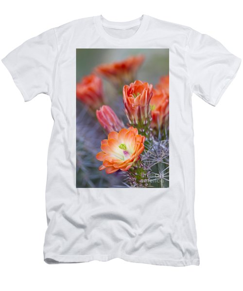 Men's T-Shirt (Slim Fit) featuring the photograph Bloom In Orange by Bryan Keil