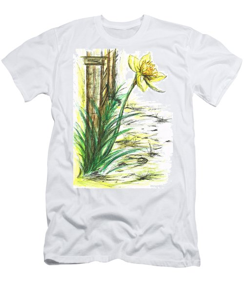 Blooming Daffodil Men's T-Shirt (Athletic Fit)