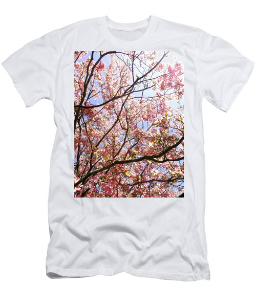 Blossoming Pink Men's T-Shirt (Athletic Fit)