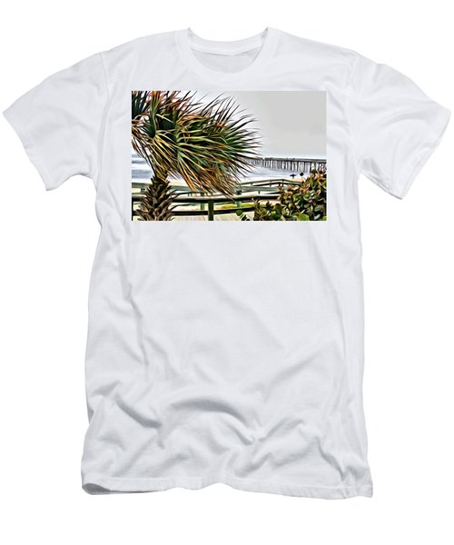 Blowin At The Beach Men's T-Shirt (Athletic Fit)