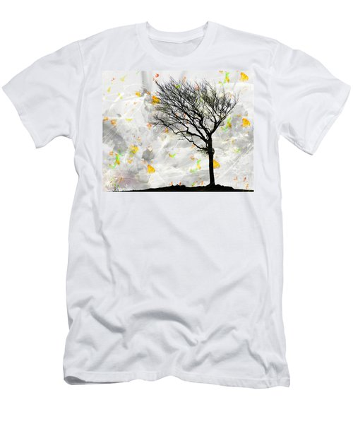 Blowing It The Wind Men's T-Shirt (Athletic Fit)