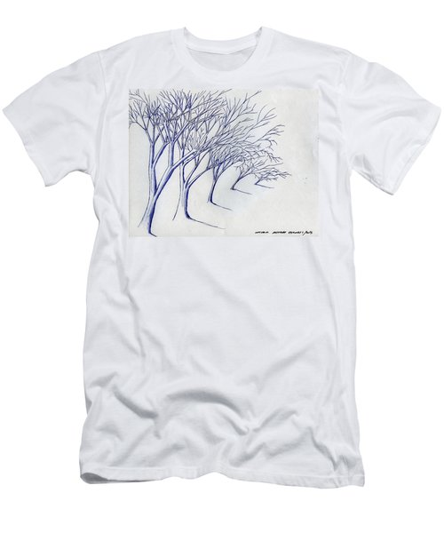 Blowing Trees Men's T-Shirt (Athletic Fit)