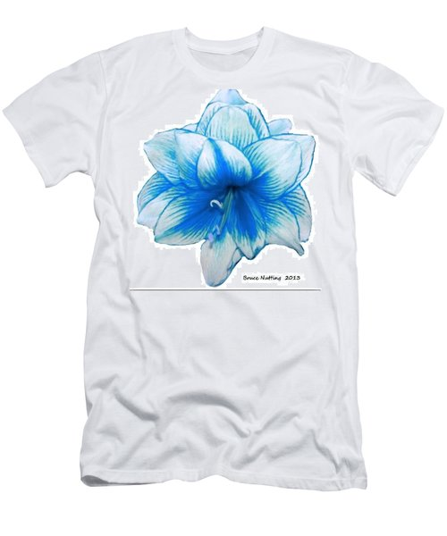 Blue Amaryllis Men's T-Shirt (Athletic Fit)