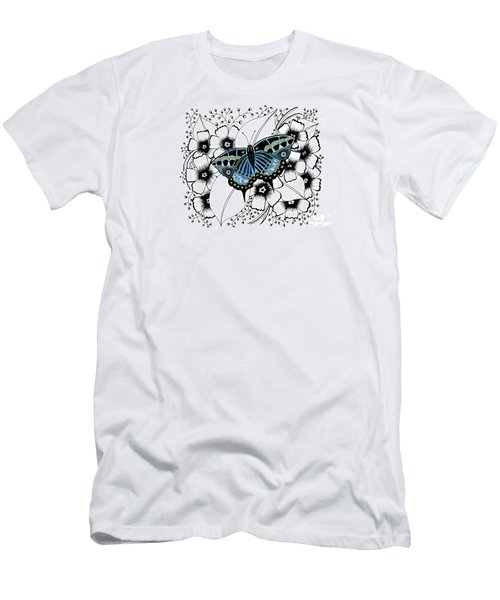 Blue Butterfly Men's T-Shirt (Athletic Fit)